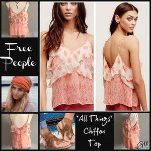 NWT Free People 'All Things' Chiffon Cropped Tank